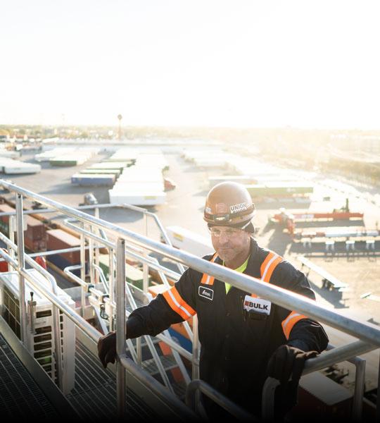 Bulk Team Member Doing Maintenance + Repair, Intermodal Division