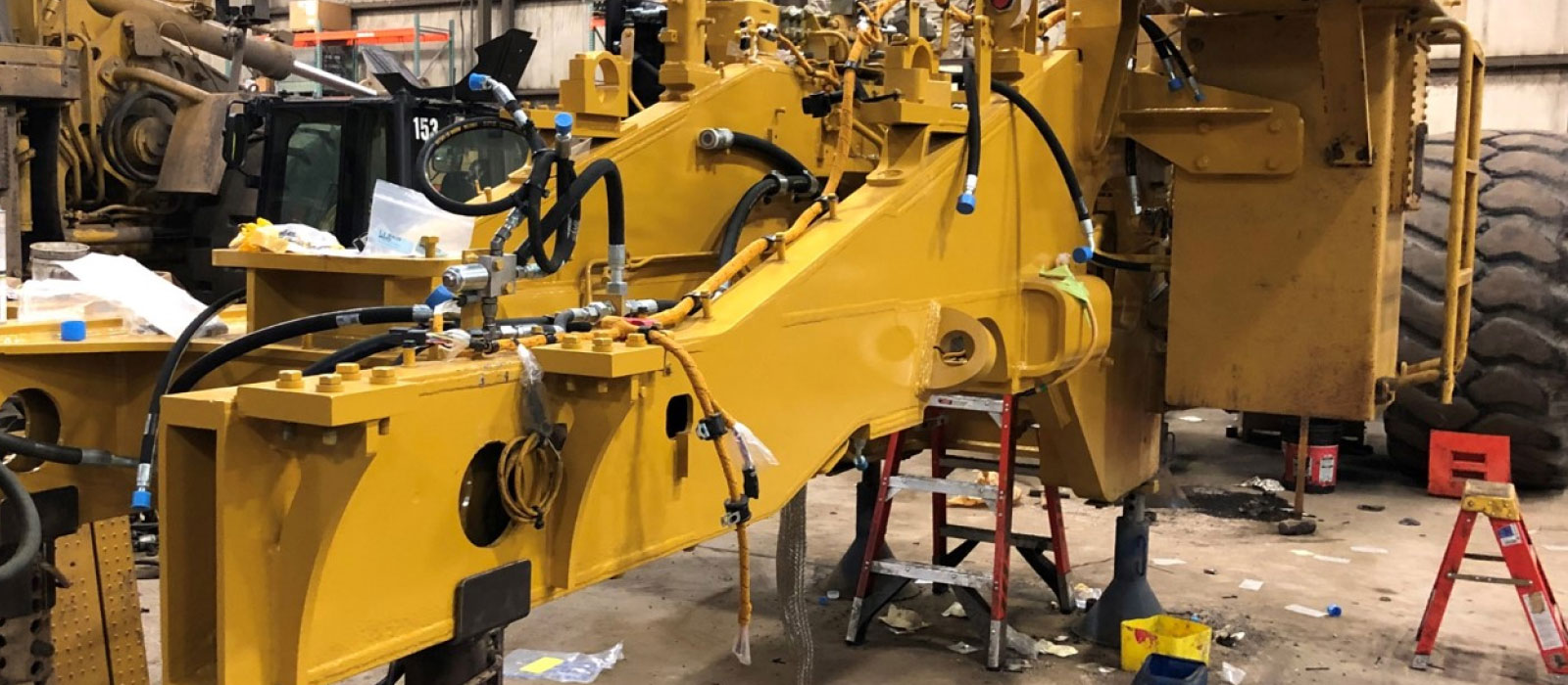Machine Frame Is Sand-blasted And Painted At Bulk Equipment Corp.