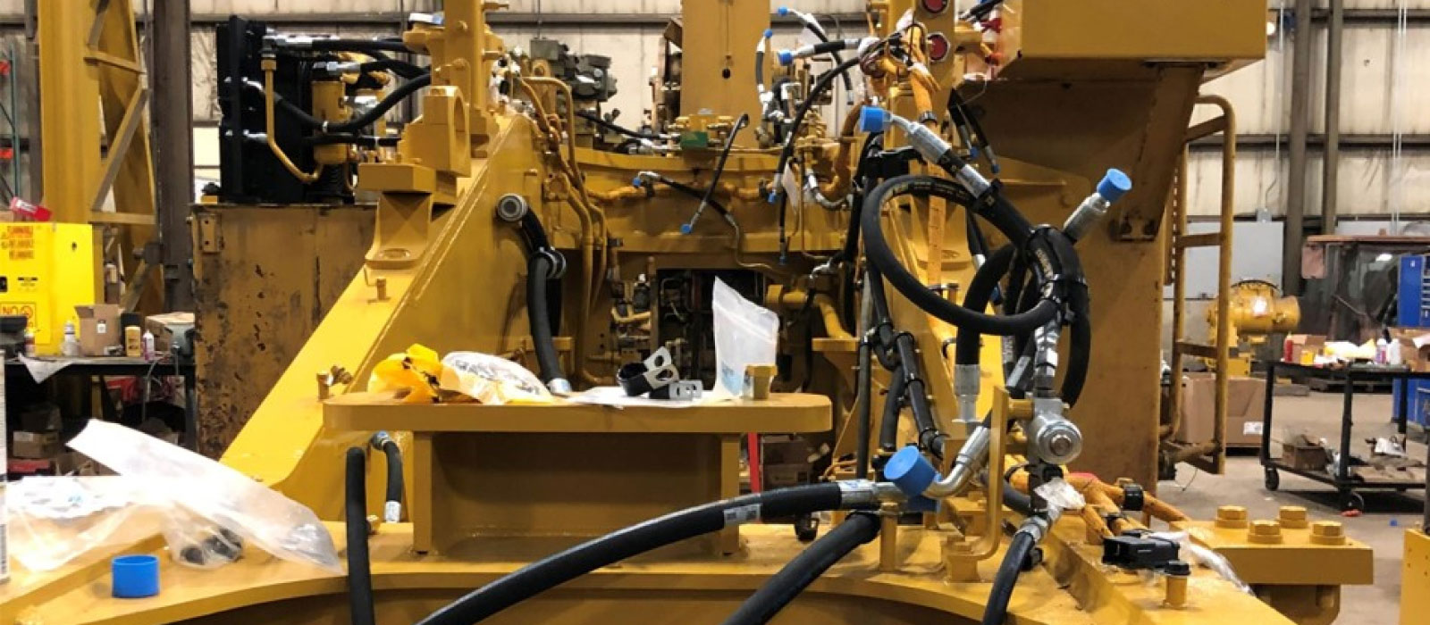 Hydraulic, Grease And Electrical Lines Are Replaced At Bulk Equipment Corp.