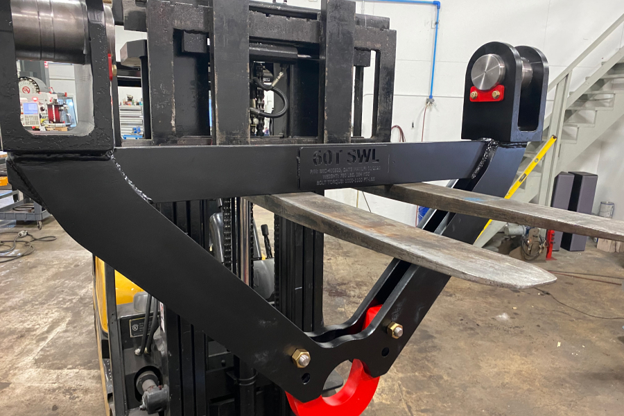 Custom-made Coil Tong Attachment