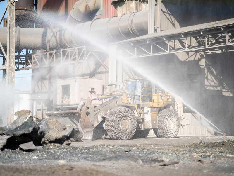 Heavy Equipment At Job Site, Steel Industry