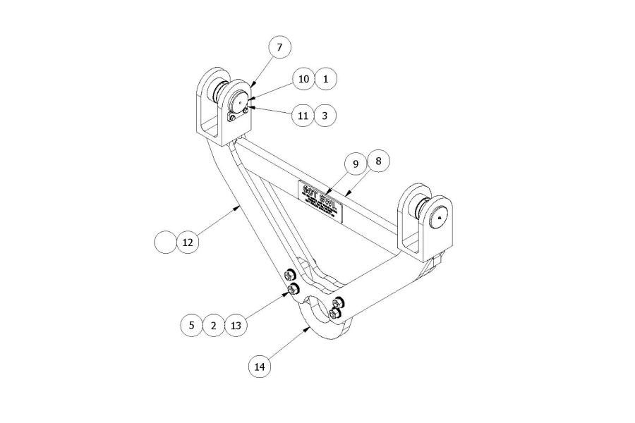 Bulk's Diagram Of A Custom-made, Design Engineered Attachment For A Reach Stacker